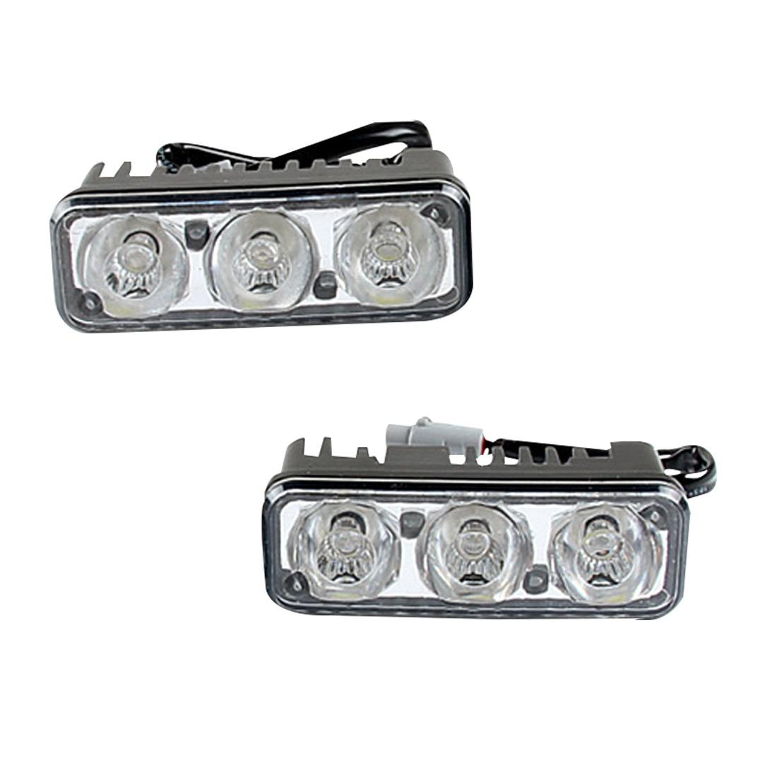 Tonewan Iyi araba stil Su Geçirmez Araba Yüksek Güç Alüminyum LED Gündüz Farları Lens DC12v Beyaz 1 takım ile DRL