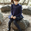 Children's Wear Trousers Girls Cowboy Plus Velvet Puff Playful Winter Princess Skirt Kids Clothing