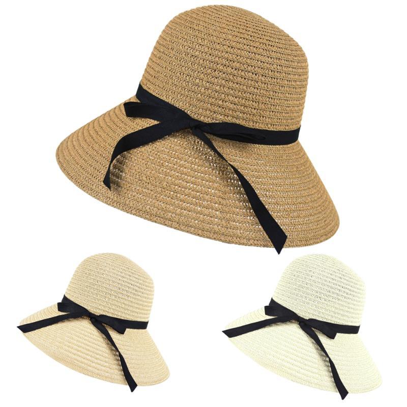 f6e38098e US $3.15 19% OFF|Straw Hat Women Wide Brim Summer Beach Sun Straw Hat  Floppy Elegant Bohemia Cap Straw Hats For Women Fashion Foldable Straw  Hats-in ...
