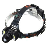 4 Mode Rechargeable T6 LED Headlight Rotate Zoom Headlamp Camping Bicycle Head Lamp 2x 18650 Battery