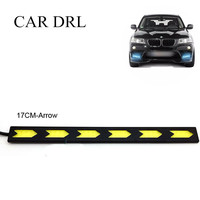 HOT SELL 17 CM Car Auto LED COB DRL 12W COB DRL 2pcs Lot COB Daytime