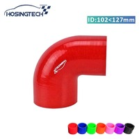 HOSINGTECH brand quality factory price 127mm to 102mm(5 4) red 90degree silicone intercooler turbo hose