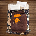 A Bathing Ape / Bape Coral Fleece Blanket on the bed Camouflage Flannel Blanket Sofa Throw Blanket, 200*150cm Free shipping
