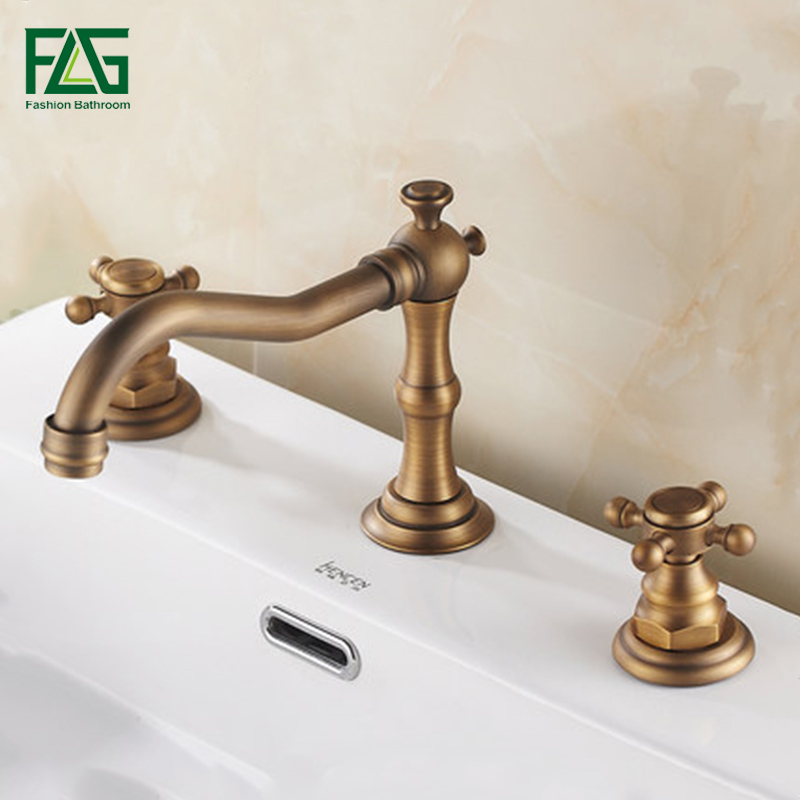 2016 New Luxury Dual Holder Three-hole Bathroom Basin Antique Faucet Mixer Tap, Antique Brass Finish Bathroom Faucets2016 New Luxury Dual Holder Three-hole Bathroom Basin Antique Faucet Mixer Tap, Antique Brass Finish Bathroom Faucets