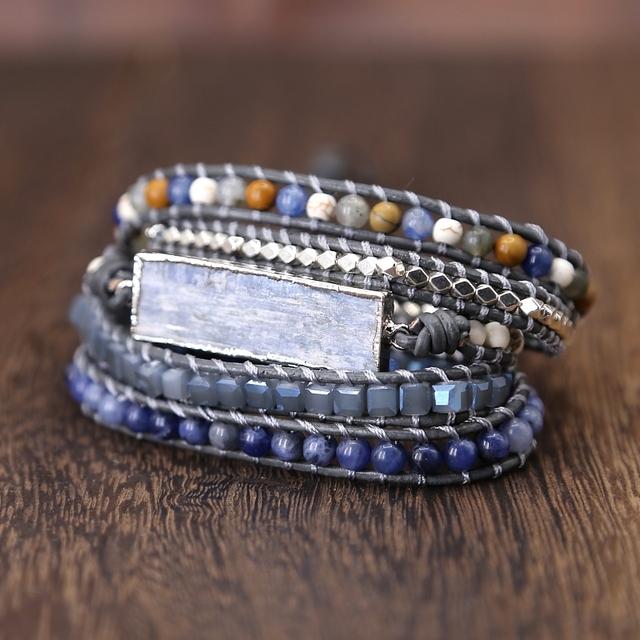 Goldenbleu Stone Leather Bracelet