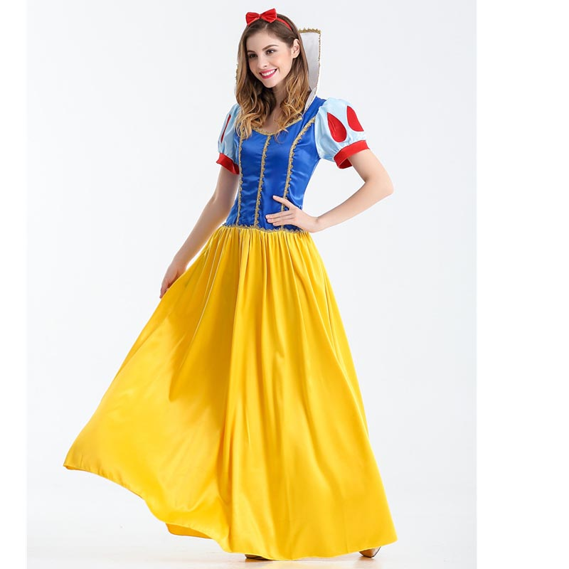 Hitmebox Adult Snow White Costumes Alice Sexy Cosplay Clothes Women Princess Fancy Party Long Dress for Halloween