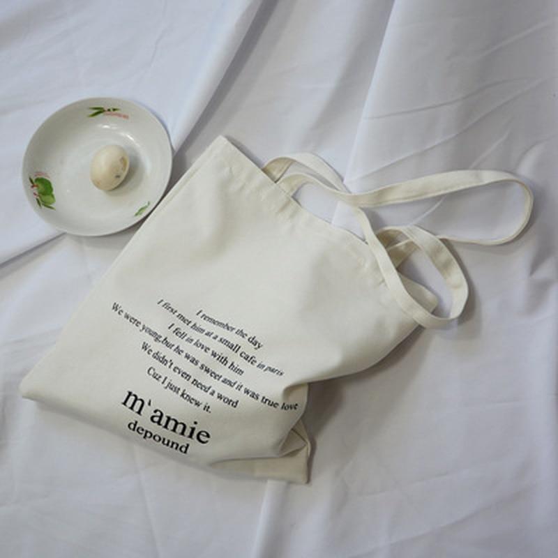 Large Capacity Canvas Tote Bag Fabric Cotton Cloth Reusable Shopping Bag Women Beach Handbags Printed Shopping Bags