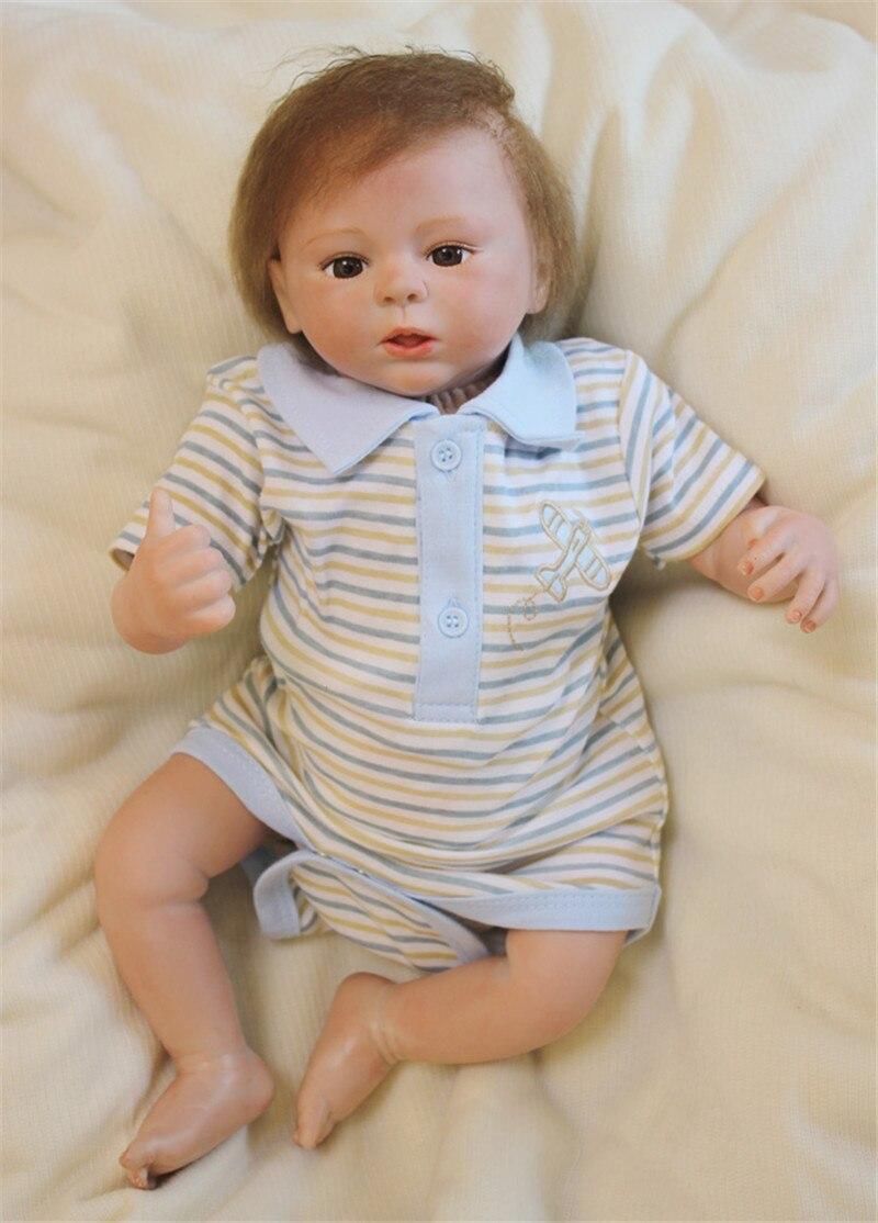 NPK Reborn bébés réaliste Silicone Reborn poupées 18 pouces/45 cm, nouveauté réaliste bébé Reborn jouets pour enfant cadeau d'anniversaire