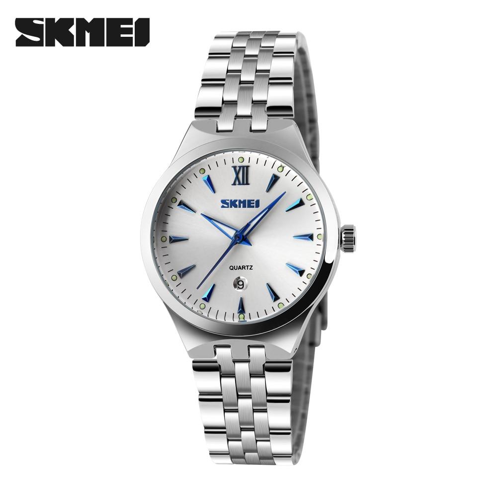 SKMEI Quartz Watch Women Fashion Casual Watches Relogio Feminino Montre Femme Reloj Mujer Full Steel Waterproof Wristwatches