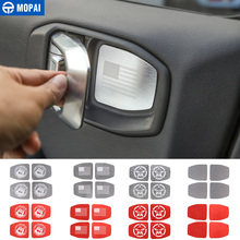 MOPAI Adesivi Per Auto per Jeep Wrangler JL 2018 + Car Interior Maniglia Della Porta Ciotola Decorazione Della Copertura per Jeep Wrangler JL accessori