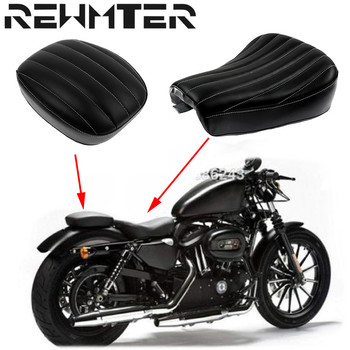 Motorcycle Front Driver Solo Seat &Rear Passenger Pad Synthetic Leather For Harley Forty Eight 48 Sportster XL1200X 72 XL1200V