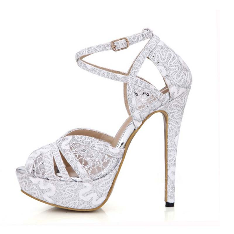 ФОТО 2017 women cross-strap buckle breathable mesh summer sandals sexy open toe platform party wedding pumps gauze high heels shoes