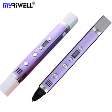 hot deal buy myriwell usb power 3d pen art smart drawing pen printing 3d pens kids creative education toy innovate handle doodle pen 3d model