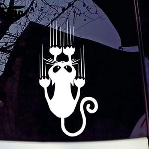 Image 3 - SLIVERYSEA wodoodporna kot wzór naklejki samochodowe śmieszne zwierząt winylowa tablica naścienna na samochód okno zderzak naklejki # B1308