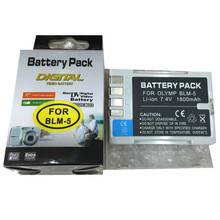 BLM-5 BLM5 lithium batteries BLM1 Digital camera battery For OLYMPUS E1 E3 E30 E300 E330 E500 E510 E520 C5060 C7070 C8080 E-300