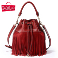 BVLRIGA Bags handbags women brands 100% genuine leather bag high quality fashion tassel luxury handbags women bags designer