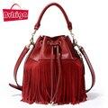 BVLRIGA sacos mulheres marcas 100% saco de couro genuíno de alta qualidade moda tassel bolsas de luxo mulheres sacos de designer