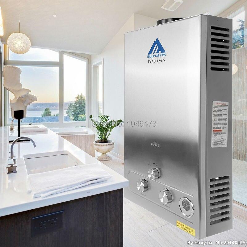 (Nave de Alemania) 12L GAS LPG calentador de agua propano instante caldera Acero inoxidable CE