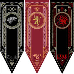 Домашний Декор флаг «Игра престолов» Stark & Tully & Targaryen & Lannister & Baratheon & Martell & Bolton Flag
