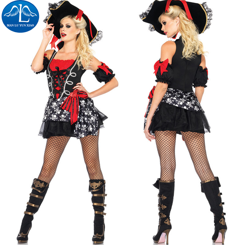 MANLUYUNXIAO Women Pirates Costume Halloween Carnival Cosplay Costume For Women Performance Show Costume Wholesale