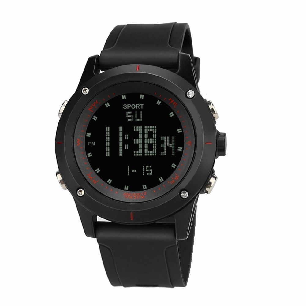 Marke Wasserdichte Military Sport Uhren Männer Silber Analog Digital Quarz Analog Uhr Uhr s Masculinos