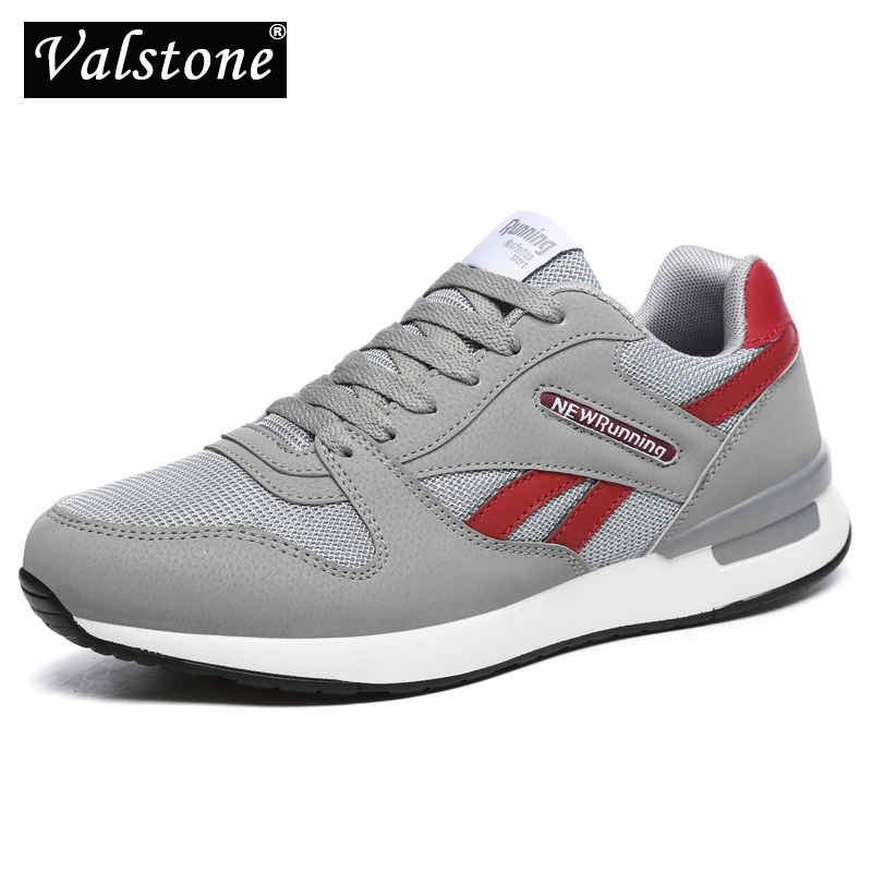 Valstone Quality Men's Leather Sneakers Mesh Air Casual Trainers Women Breathable Outdoor Walking Shoes Light Weight Antiskid