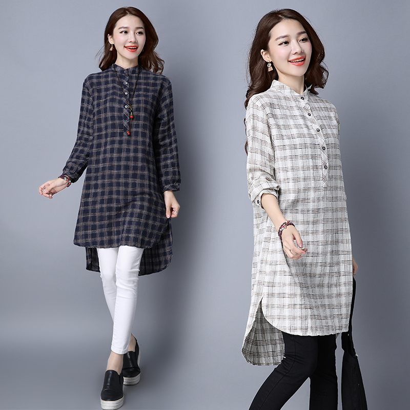 Women blouses shirt fashion women plaid shirt flannel for Women s plus size plaid shirts