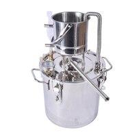 3 Gal /10 Litres Distiller Whisky Water Distiller Moonshine 304 Stainless Steel Distillation Boiler Brewer Cooler Kit