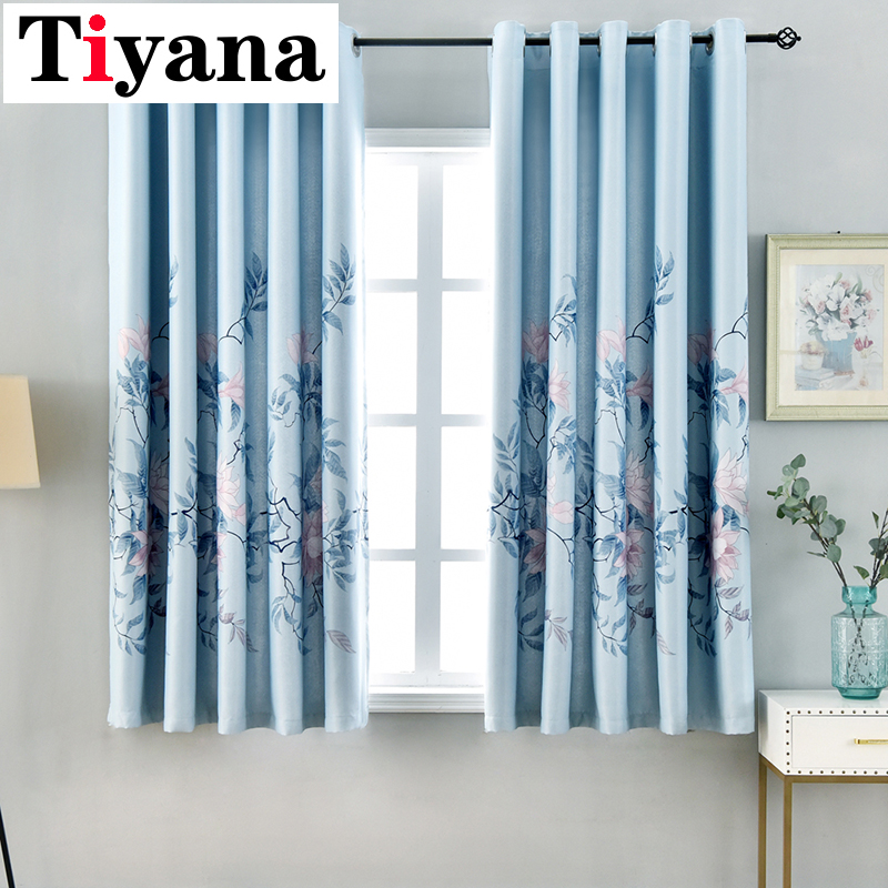 Grommet Top Curtains Door Kitchen Living Room Windows Drapes Rustic Shade Short Curtain Cortinas PC22X
