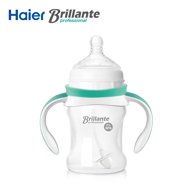Haier Brillante Senior Handle PP Straw Drinking Feeding Bottle for Infant Newbron Baby 150ml 5 BPA
