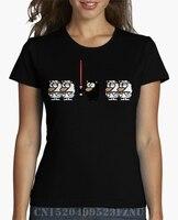 Весенний Топ Женская мода футболка темно-овцы с коротким круглым вырезом Характер Хлопок KPOP S-XXXL