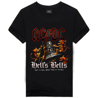 Novelty Design 3d AC DC Bell Skull Mens T Shirts Chain Acdc Bell I Got My