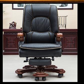 Купить с кэшбэком Solid wood study chair reclining boss chair home office chair leather leisure computer chair swivel chair.