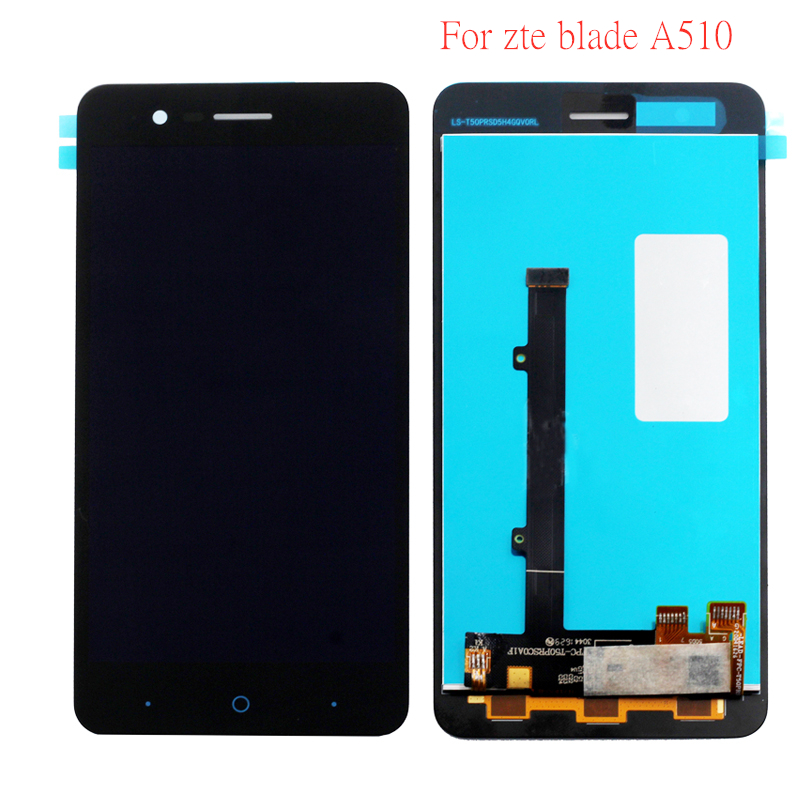 "For ZTE A510 Black New 100% Test 5.0"" Monolithic LCD Display + Touch Screen Digitizer Component + Touch Flat Panel Display-in Mobile Phone LCD Screens from Cellphones & Telecommunications"