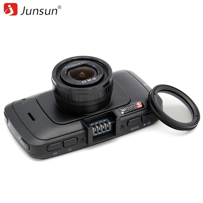 Prix pour Junsun a790 mini voiture dvr caméra ambarella a7 avec gps Enregistreur vidéo 1296 P Full HD 1080 p 60Fps Enregistreur Dashcam Noir boîte