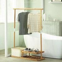 ZEN S BAMBOO YUE TIME Coat Rack Clothes Hanger Multi Functional Coat Racks Living Room Bedroom