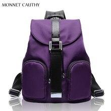 MONNET CAUTHY Heißer Neueste Mode Damentaschen Einfarbig Lila Blau Schwarz Freizeit Reiserucksack Tasche für Damen