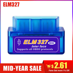 ELM327 Bluetooth 2.0 Interface V2.1 OBD2 OBDII scanner Auto Diagnostic-Tool for