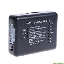 1Pcs NEW Black PC 20 24 Pin PSU ATX SATA HD Power Supply Tester