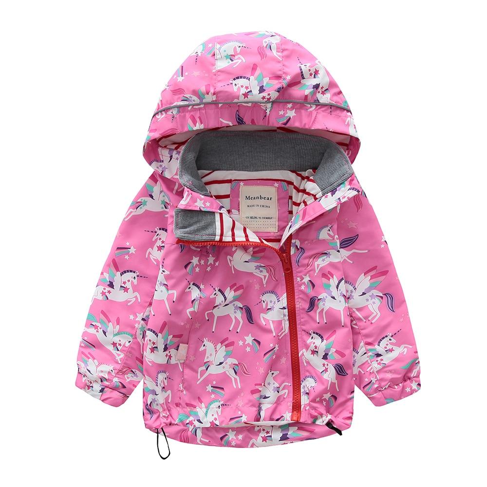 M106 Spring Autumn Fashion Boys Coat Hoodie Child Jacket Girls Tops Windbreaker unicorn Print Thin Coat Summer Child Thin Jacket letter print raglan sleeve hoodie jacket