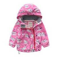 M106 Spring Autumn Fashion Boys Coat Hoodie Child Jacket Girls Tops Windbreaker unicorn Print Thin Coat Summer Child Thin Jacket