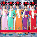 3 Pcs Hat+ Scarf Plus Size Qing Dynasty Costume Chinese Traditional Princess Dress with Hat Chinese Folk Dance Free Shipping