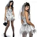 Взрослая Женщина Halloween Masquerade Зомби Косплей Костюмы Sexy Женщин Вампир Призрак Невесты Carnival Costume Fancy Dress