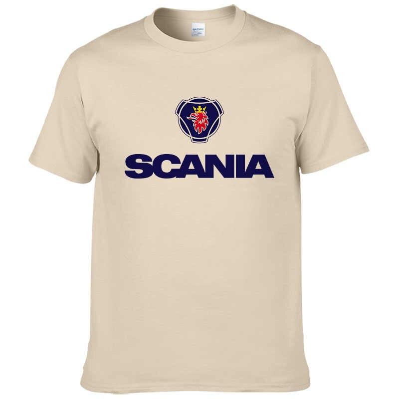 2017 новые мужские футболки, модная футболка Saab SCANIA, хлопковая Футболка с круглым вырезом и короткими рукавами с принтом, летняя футболка #190