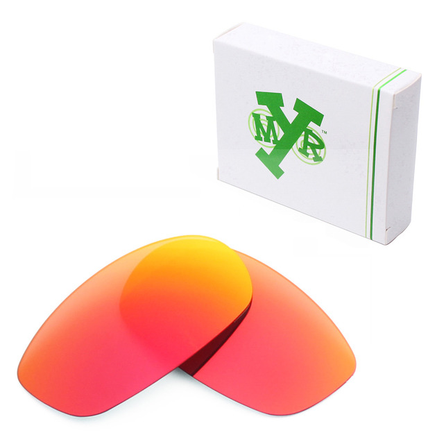6a4c118be55 Mryok Anti-Scratch POLARIZED Replacement Lenses for Oakley Square Wire 2.0  Sunglasses Fire Red