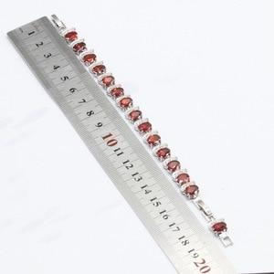 Image 5 - Kırmızı kübik zirkonya beyaz taşlar gümüş renk takı setleri kolye kolye bilezik küpe yüzük kadınlar için ücretsiz hediye kutusu