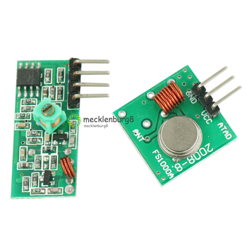 315 MHz RF Transmitter and Receiver Module Link Kit for ARM / MCU WL DIY 315 MHz / 315 MHz Wireless Remote Controller for Arduin image