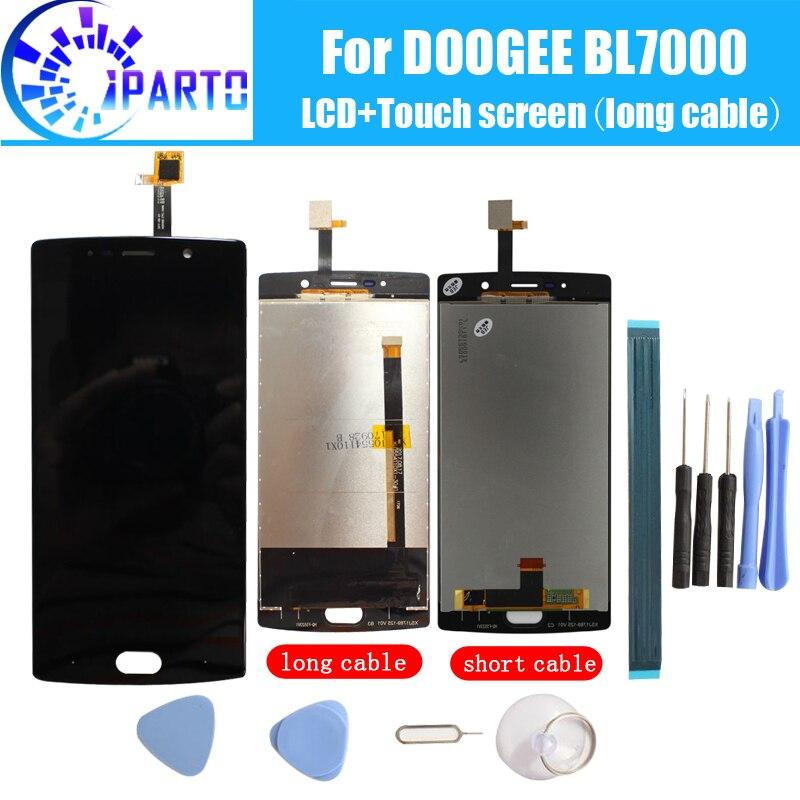 Doogee BL7000 LCD Display + Touch Screen 100% Original LCD Digitizer Glas Panel Ersatz Für Doogee BL7000 + werkzeug + klebstoff.