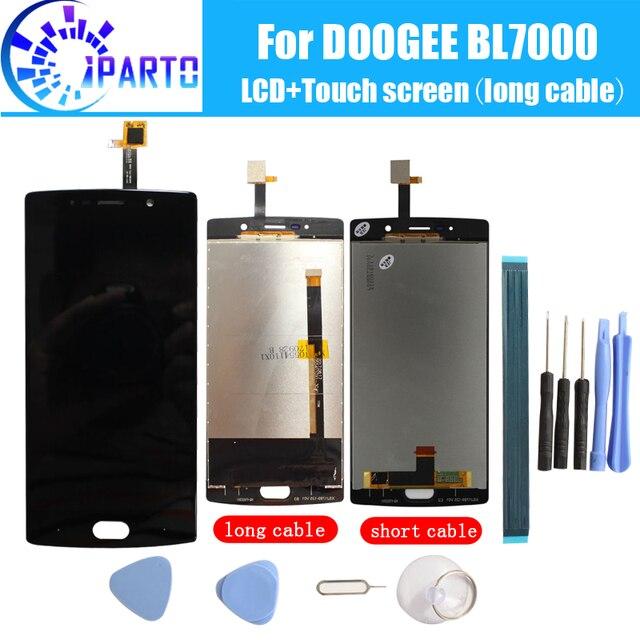 ЖК дисплей Doogee BL7000 + сенсорный экран, 100% оригинальный ЖК дигитайзер, сменная стеклянная панель для Doogee BL7000 + инструмент + клей.