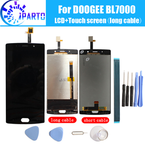 Image 1 - Doogee BL7000 LCD Display+Touch Screen 100% Original LCD Digitizer Glass Panel Replacement For Doogee BL7000 +tool+adhesive.